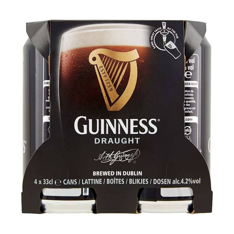 Guinness Draught 4 x 33 cl